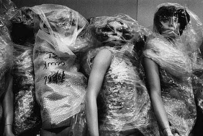 prostitute song Candy's Caravan Burlesque women mannequins bubble wrap art photography