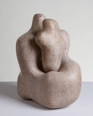 Barbara Hepworth_Mother and Child, 1934, pink ancaster stone 310 x 260 x