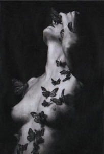 Elisa Lazo de Valdez_Woman Butterflies