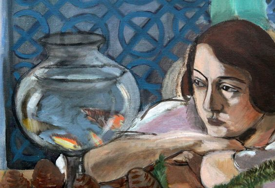 Henri Matisse Woman Before a Fish Bowl Goldfish Aquarium 1922 painting artwork
