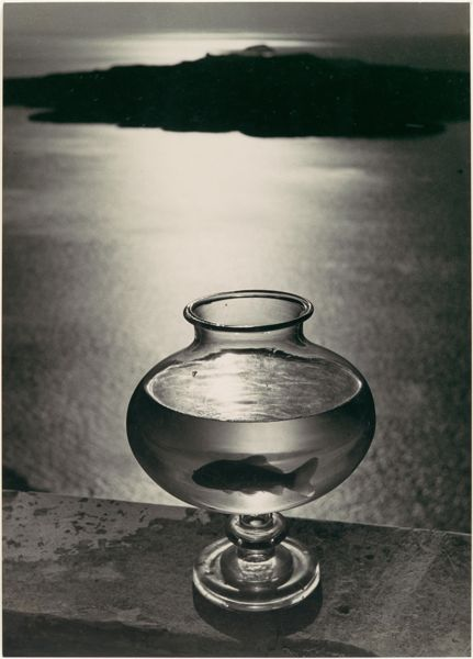 Herbert List Goldfish Bowl Santorini Greece ocean 1937 Gelatin silver print art photography